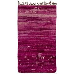 Fabulous Purple Vintage Moroccan Beni MGuild Rug