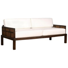 Fabulous Restored McGuire Sofa in the Style of Michael Taylor, circa 1970