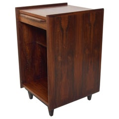 Fabulous Rosewood Side Table Cubby Cabinet Scandinavian Modern Pega by Juul 1960