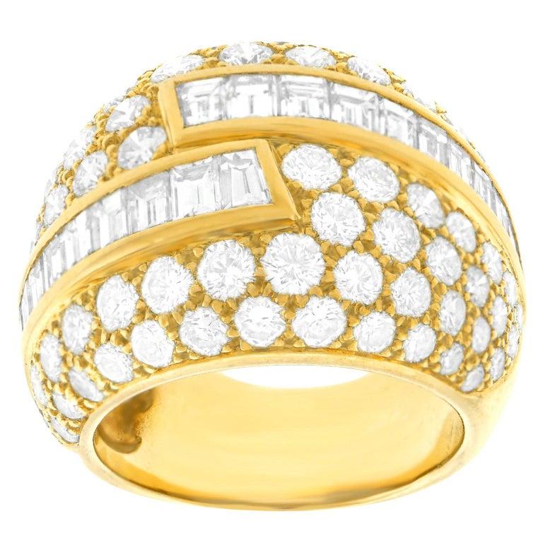 Fabulous VCA Diamond Set 1970s Ring For Sale