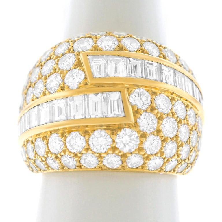 Fabulous VCA Diamond Set 1970s Ring For Sale 3
