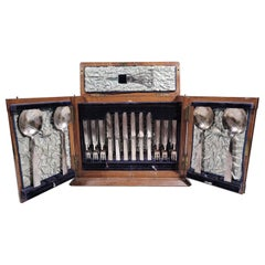 Fabulous Victorian Aesthetic Fruit Set for 18 in Wood Case