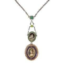 Fabulous Vintage Found Objets Bohemian Gold Necklace