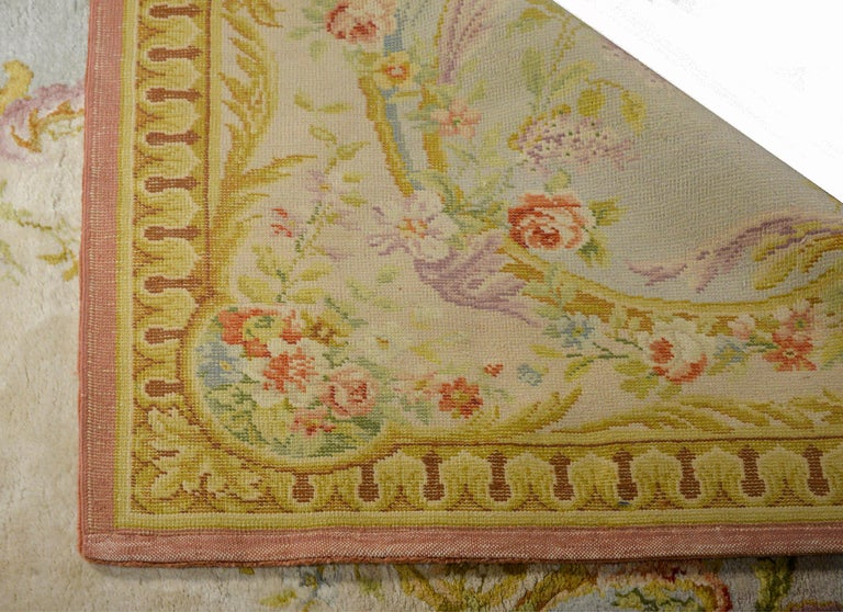 Fabulous Vintage French Savonnerie Rug For Sale 3