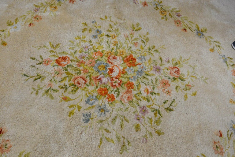 Vegetable Dyed Fabulous Vintage French Savonnerie Rug For Sale