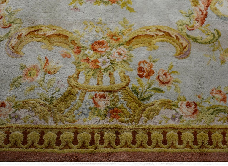 Wool Fabulous Vintage French Savonnerie Rug For Sale