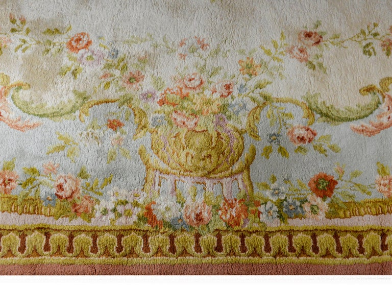 Fabulous Vintage French Savonnerie Rug For Sale 1