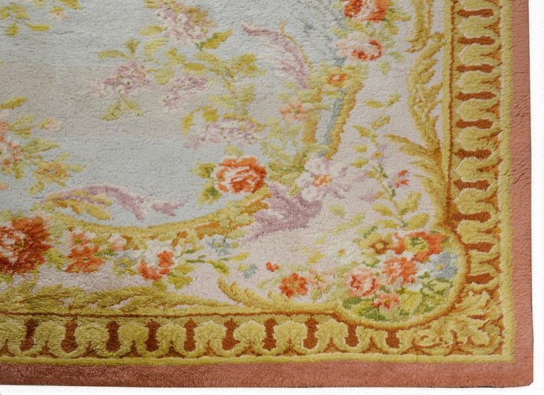 Fabulous Vintage French Savonnerie Rug For Sale 2