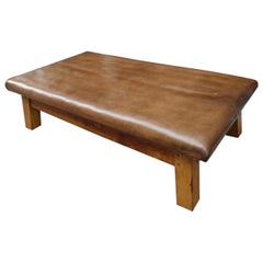 Fabulous Vintage Leather Daybed/Coffee Table/Bench