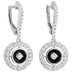 Fabulous White Gold Diamond Drop Lever-Back Earrings for Her