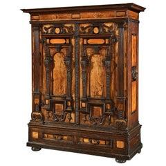 Facade Cabinet Fassadenschrank Cupboard Wardrobe Renaissance German Walnut Elm