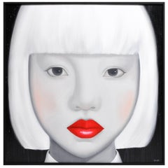 """Face"" Contemporary Painting of a Woman"