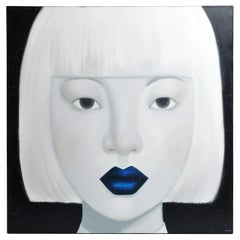 """""""Face"""" Contemporary Painting of a Woman"""