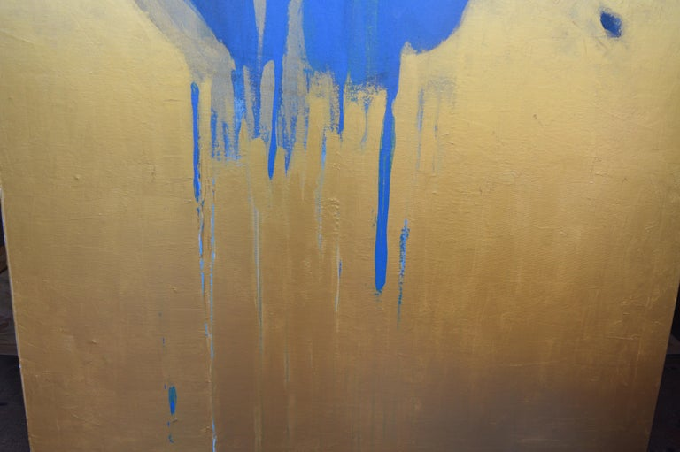 Contemporary Face in Blue by Jorge Santos For Sale