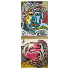 Faces in My Head, Outsider Artist Drew, 2020