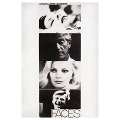 """""""Faces"""" R1980s U.S. Film Poster"""