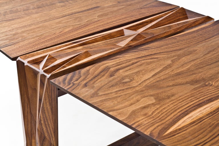 Modern Facet Coffee Table in Oiled Walnut by Davin Larkin for Wooda For Sale
