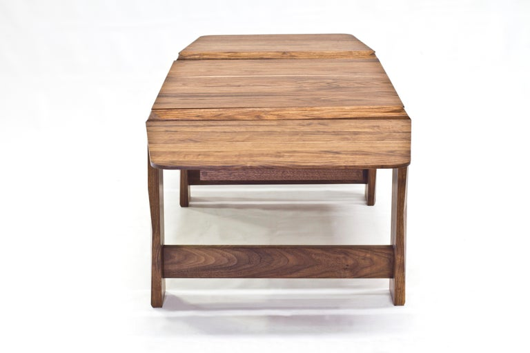 Facet Coffee Table in Oiled Walnut by Davin Larkin for Wooda In New Condition For Sale In Omro, WI