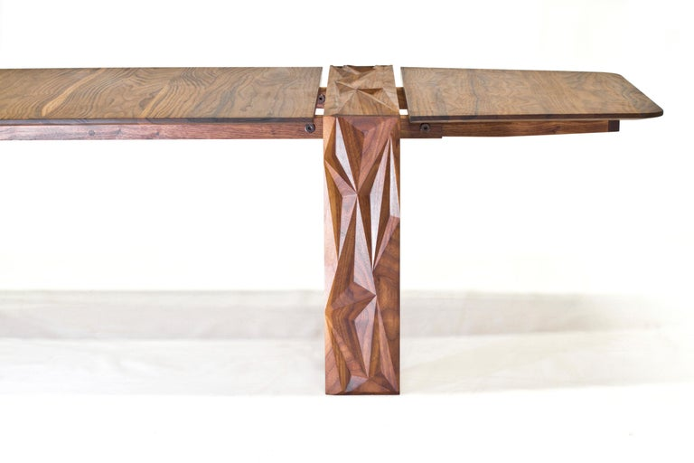 Contemporary Facet Coffee Table in Oiled Walnut by Davin Larkin for Wooda For Sale