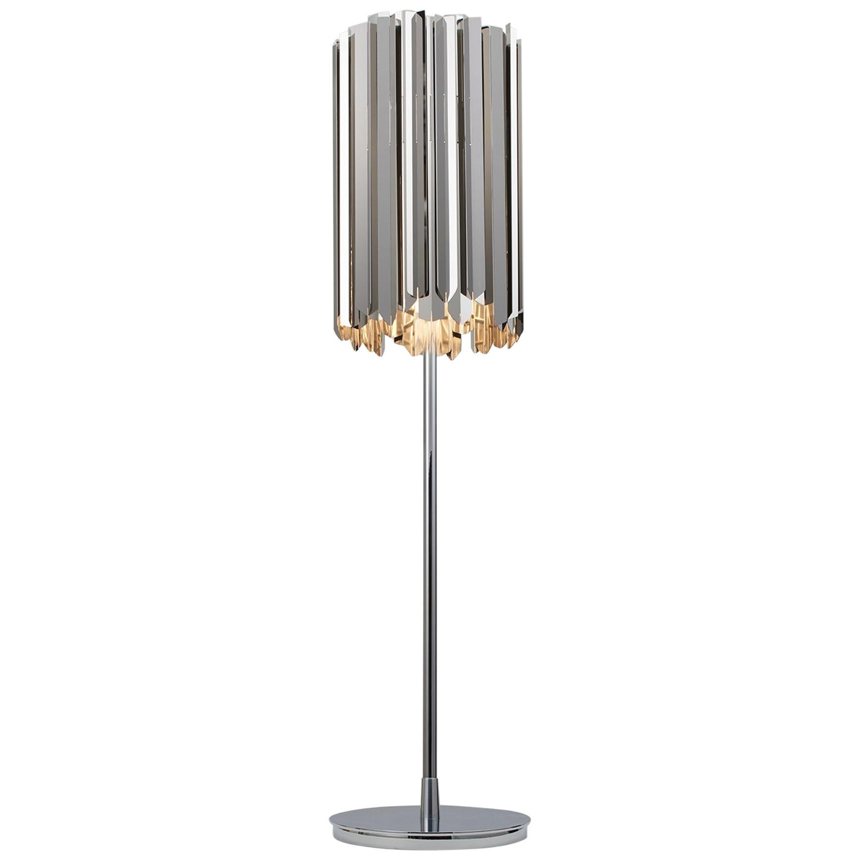 Facet Dimmable Table Lamp by Tom Kirk Finished in Stainless Steel