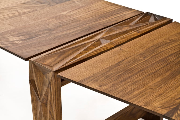 The facet Dining table was designed as a form exploration exercise. Conversations happen at the dining table, but rarely about the dining table. Facet is designed as a talking piece, one that invites people to touch and engage with the piece that