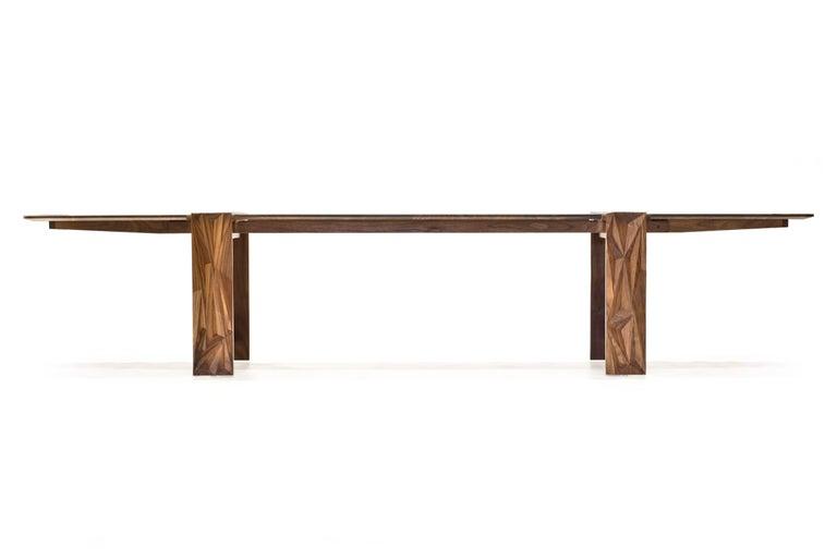 Modern Facet Dining Table in Oiled Walnut by Davin Larkin for Wooda For Sale