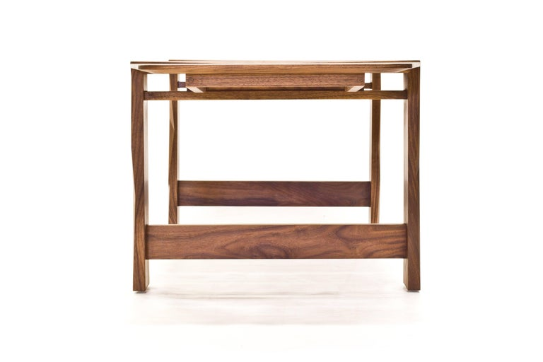 Facet Dining Table in Oiled Walnut by Davin Larkin for Wooda In New Condition For Sale In Omro, WI