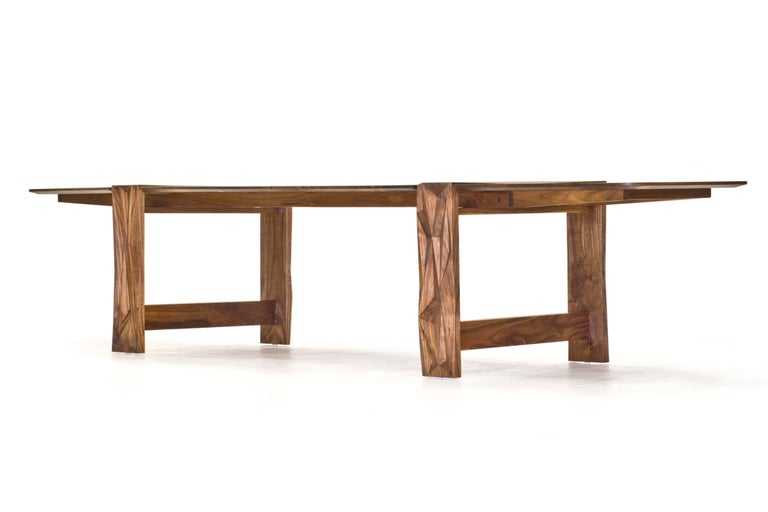 Contemporary Facet Dining Table in Oiled Walnut by Davin Larkin for Wooda For Sale