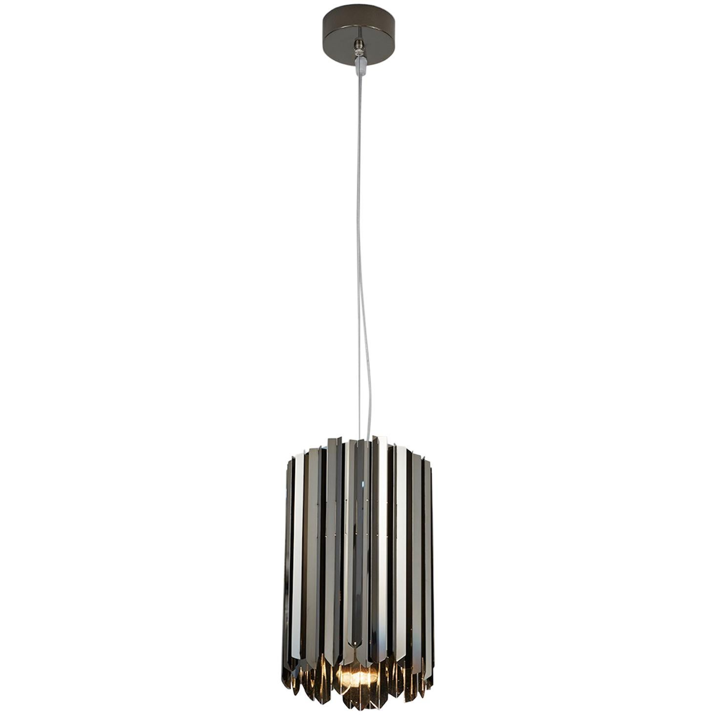 Facet Pendant by Tom Kirk in Polished Black Nickel