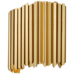 Facet Wall Light by Tom Kirk in Satin Gold