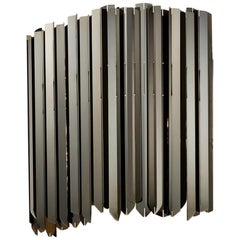 Facet Wall Light by Tom Kirk in Polished Black Nickel