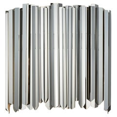 Facet Wall Light by Tom Kirk in Polished Stainless Steel