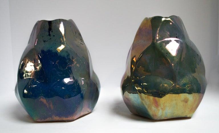 Art Nouveau Faceted Alphonse Cytere Vase For Sale