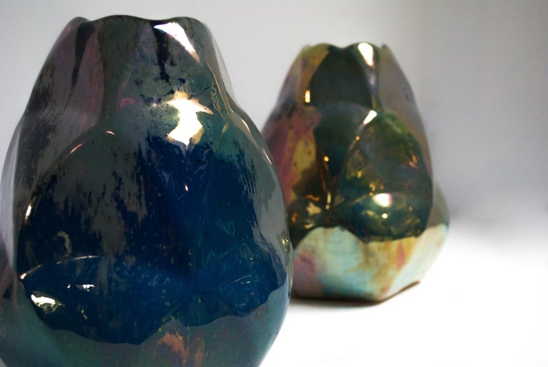 French Faceted Alphonse Cytere Vase For Sale