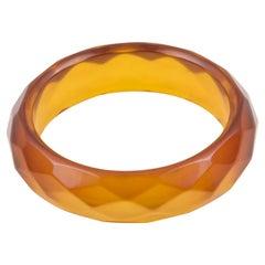 Faceted Bakelite Bracelet Bangle Prystal Orangeade
