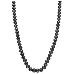 Faceted Black Diamond Bead Necklace