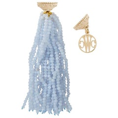 Faceted Chalcedony 26 Strand Necklace Tassel