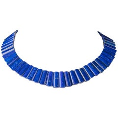 Faceted Lapis Lazuli Beaded Necklace by Deborah Lockhart Phillips