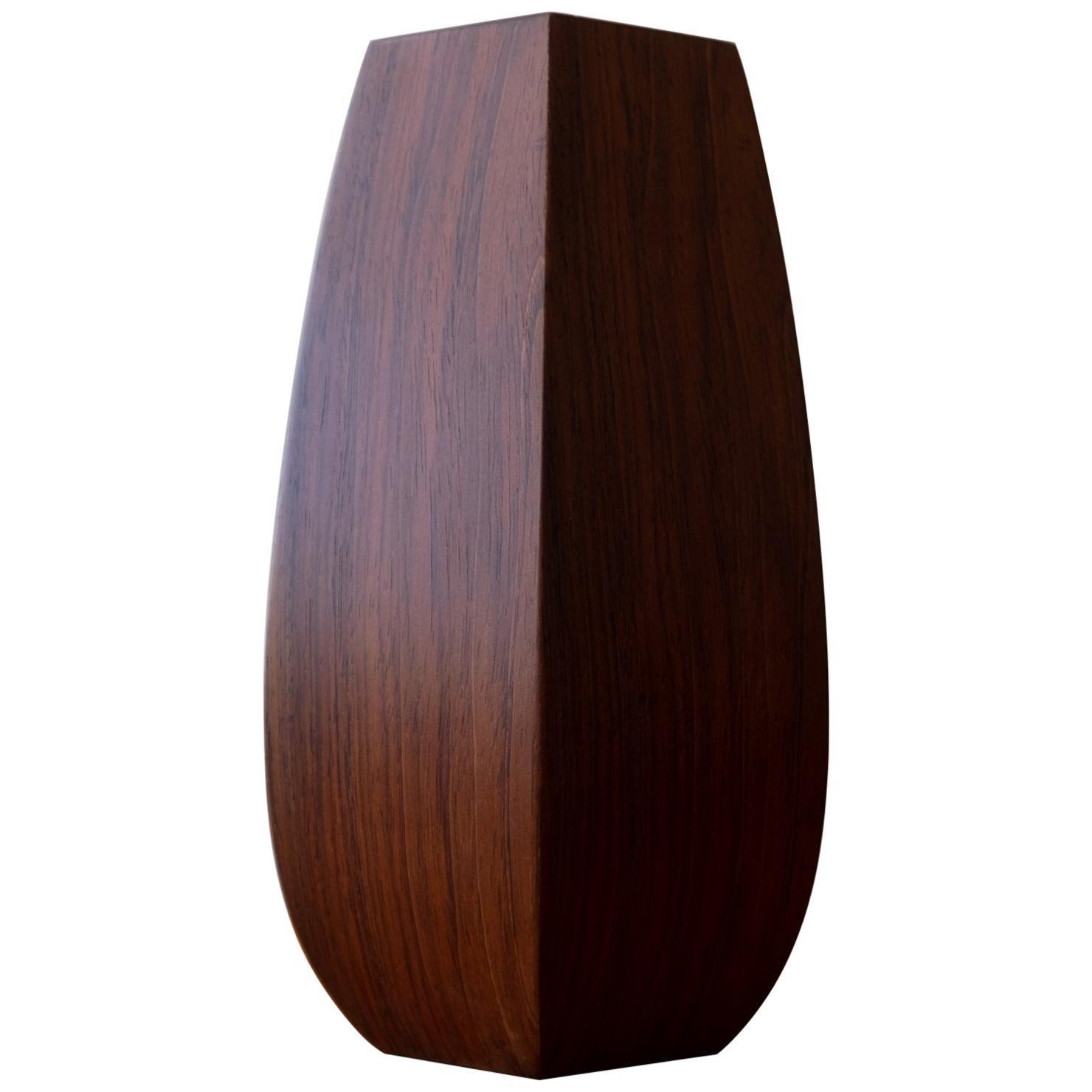 Faceted Rosewood Vase, Denmark