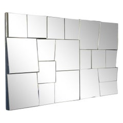 Faceted 'Slopes Mirror' by Neal Small, circa 1970