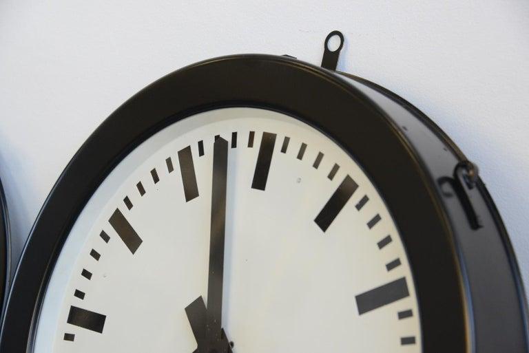German Factory Clocks by Bohmeyer, circa 1930s For Sale
