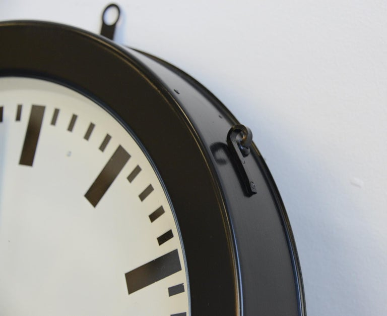 Mid-20th Century Factory Clocks by Bohmeyer, circa 1930s For Sale
