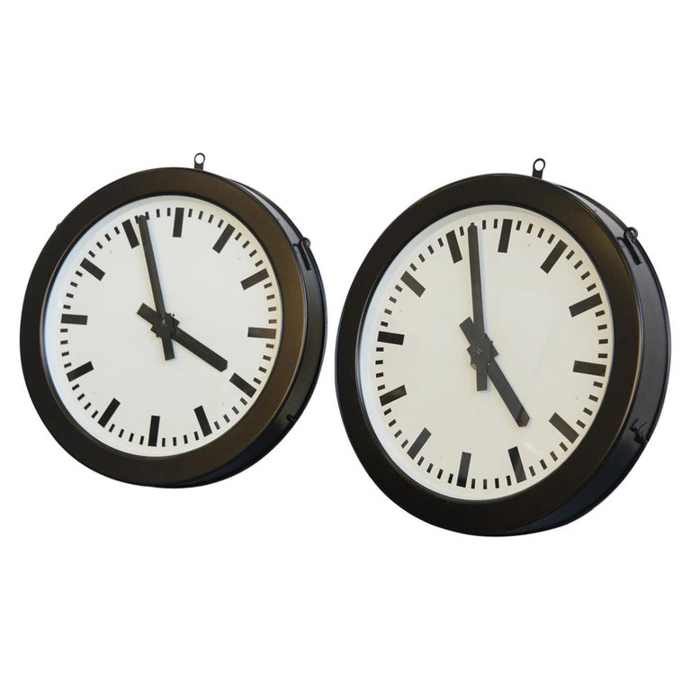 Factory Clocks by Bohmeyer, circa 1930s For Sale