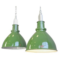 Factory Pendant Lights by Thorlux, circa 1950s