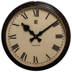 Factory Wall Clock, England, circa 1930