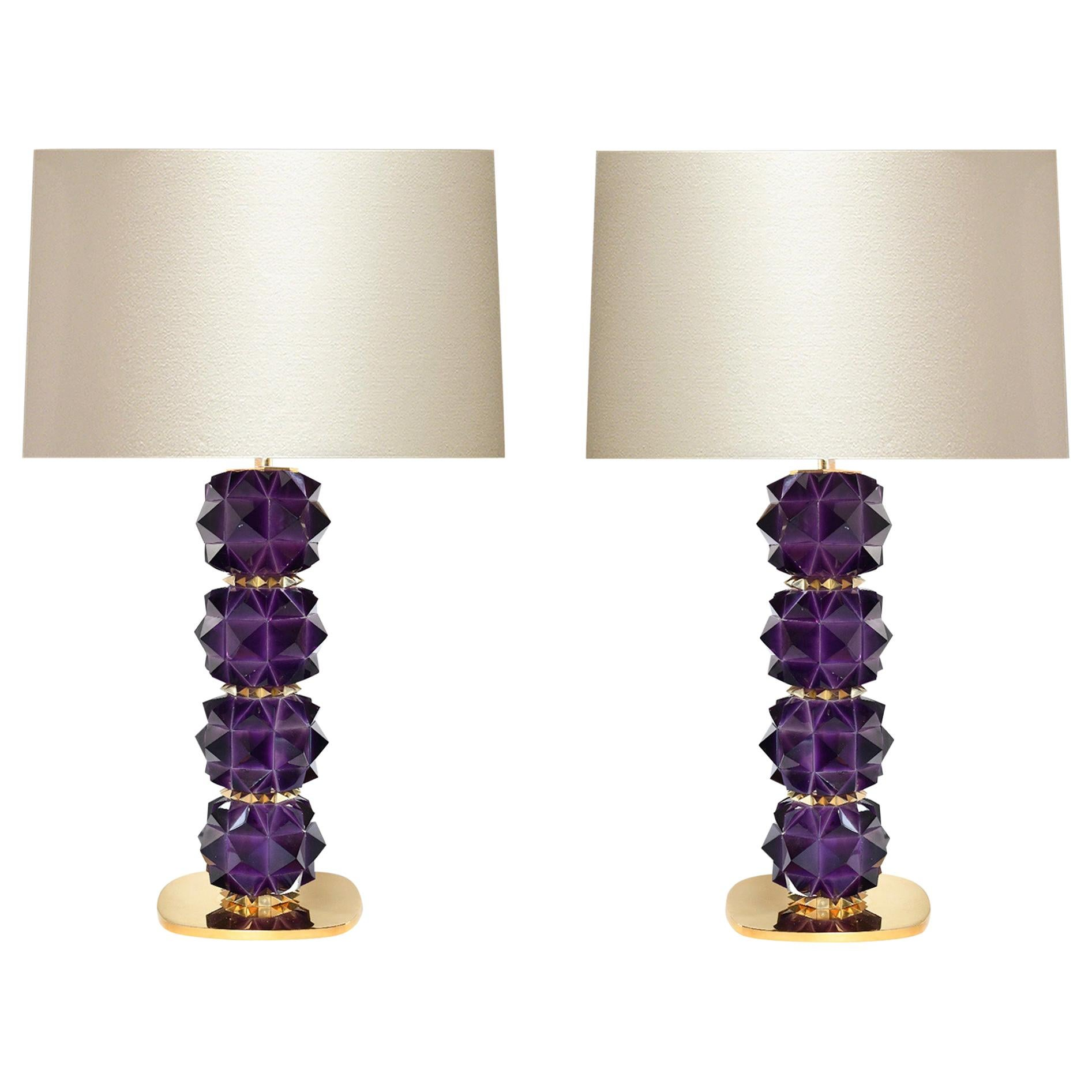 Amethyst Candy I Rock Crystal Lamps by Phoenix