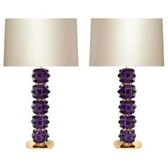 Amethyst Candy II Rock Crystal Lamps by Phoenix