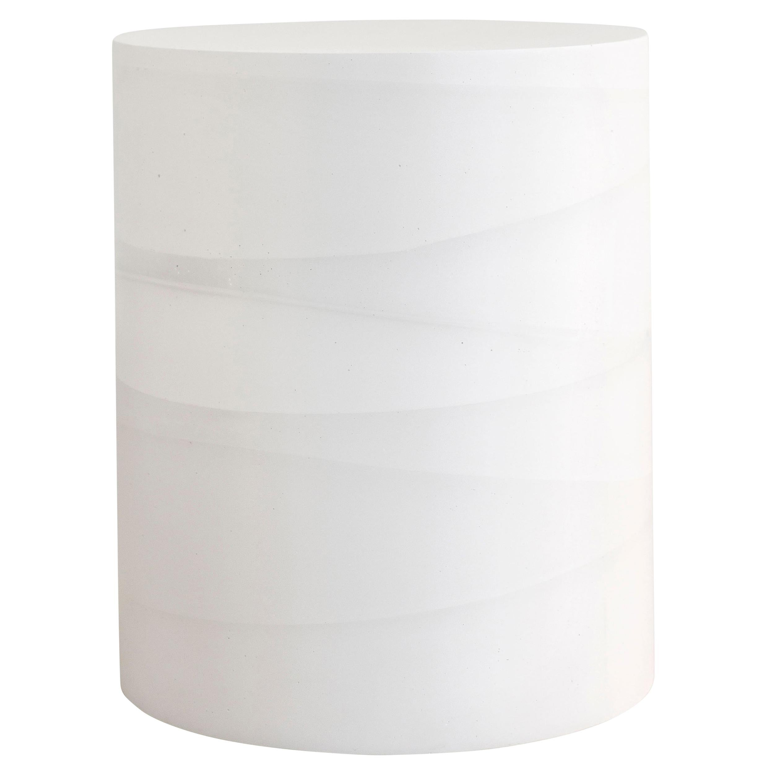 Fade Drum, White Cement by Fernando Mastrangelo, 1stDibs New York