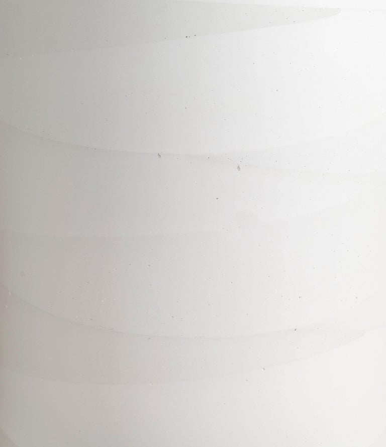 Cast Fade Drum, White Cement by Fernando Mastrangelo, 1stDibs New York For Sale
