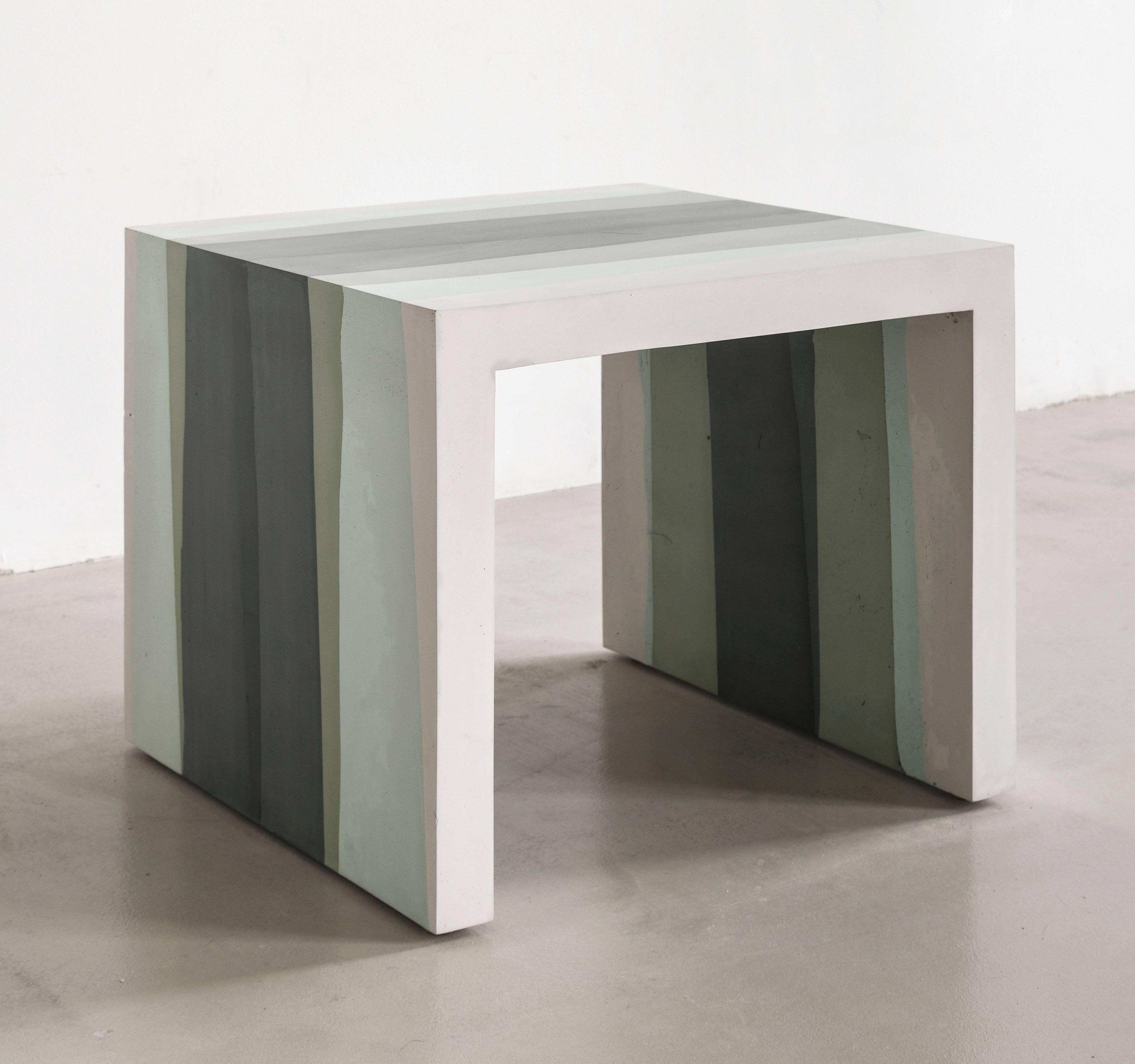 Cement side table Small Contrast Of Softness And Sharp Angles The Madetoorder Side Table 1stdibs Fade Side Table Hunter Green Cement By Fernando Mastrangelo For
